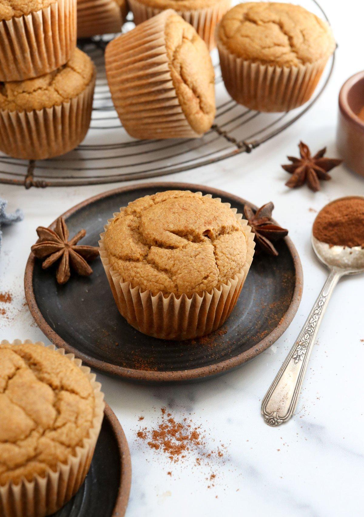 pumpkin muffins on cooling rack