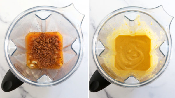 pumpkin ice cream ingredients in blender
